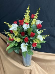 Silk Cemetery Flowers